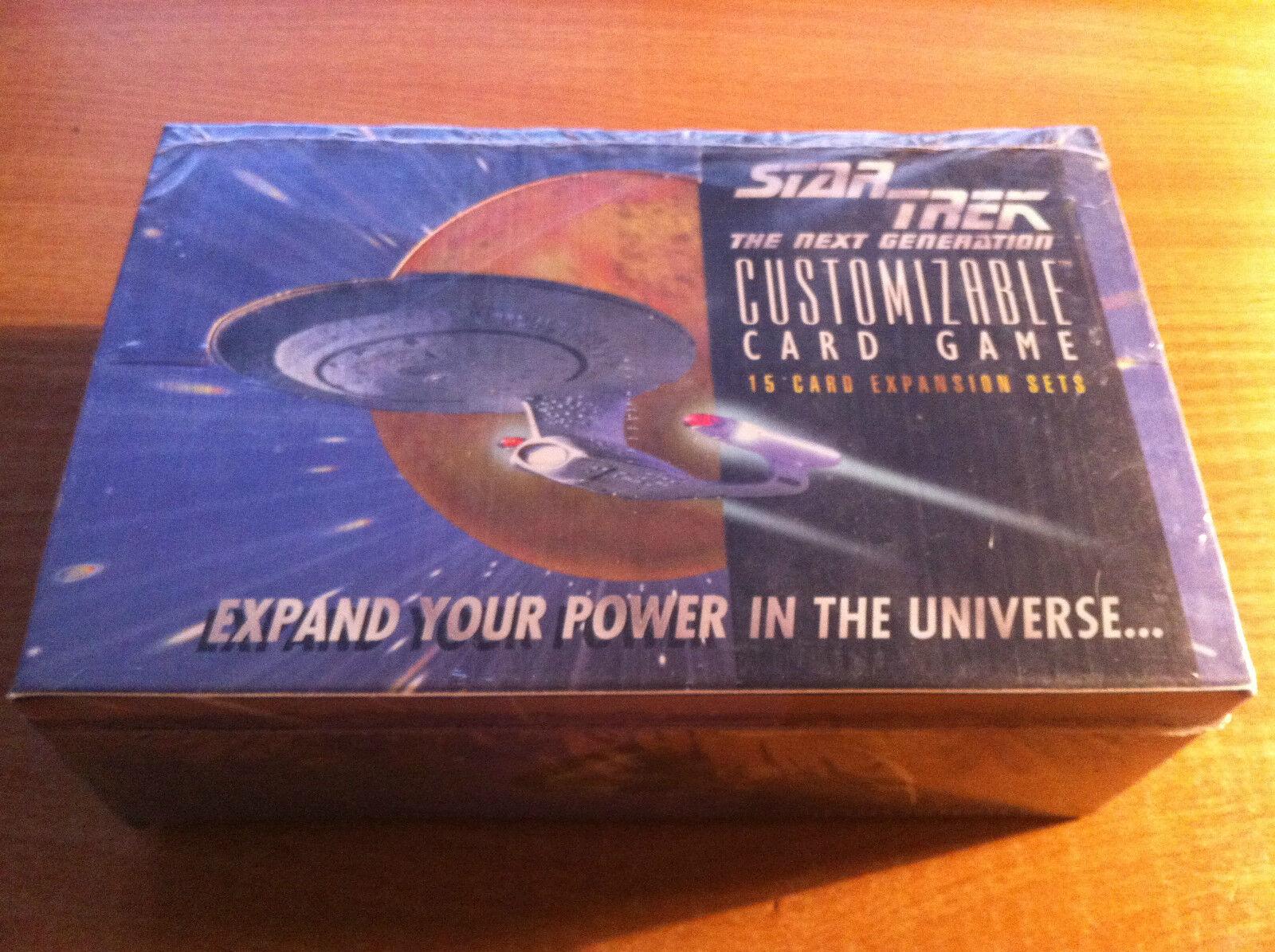 Star Trek Ccg whiteo Frontera Premiere Precinto Fábrica Booster Caja