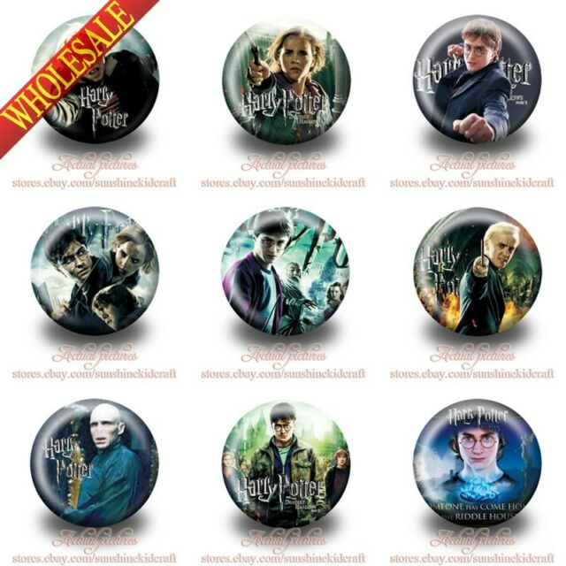 18pcs Harry Potter Tin Buttons pins badges,30MM,Round Brooch Badge,Kid gifts