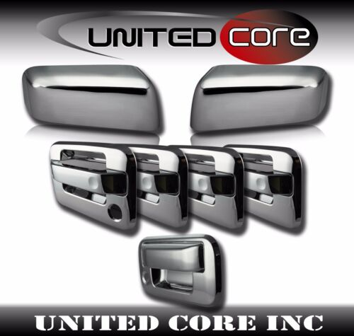 Ford F150 Chrome Mirror Cover Chrome 4 Door Handle Cover Chrome Tailgate 04-08