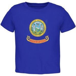 Born and Raised Idaho State Flag Toddler T Shirt