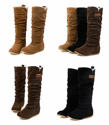 UK WOMENS Ladies BOOTS LACE CUFF INCREASED INTERNAL WOOLEN SHOES UK2-9