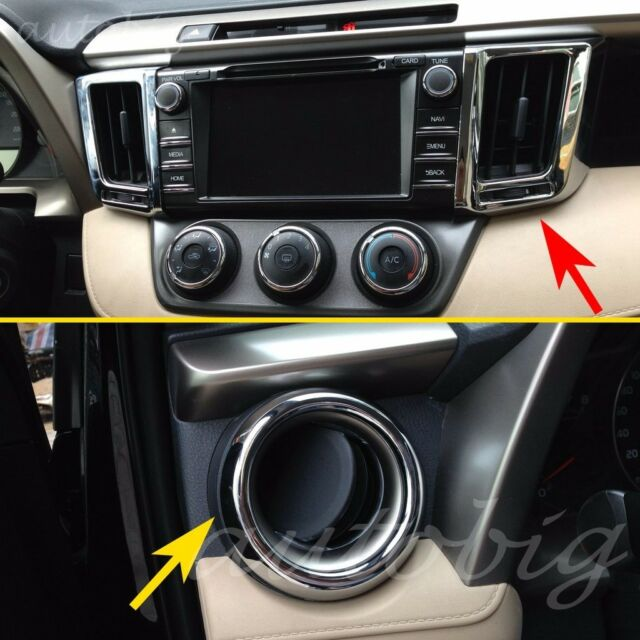 Dashboard Air Vent Cover For Toyota RAV 4 2013 2017 Chrome Interior Trim  Molding