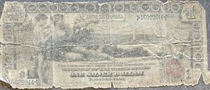USA 1896 Banknote 1 Dollar Large Size Silver Certificate Schein US One #24291