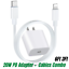 miniature 1 - 20W PD Fast Power Adapter Wall Charger USB-C to iPhone Cable For iPhone 12 11 XR