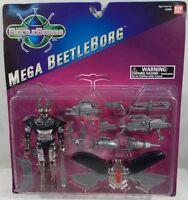 Beetleborgs Mega Silver Beetleborg With Many Accessories By Bandai (moc)