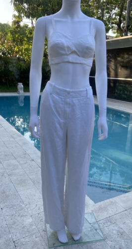Vintage Hermes Linen Suit 36 - image 1