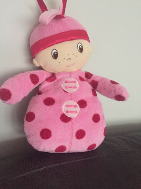 MOTHERCARE MY FIRST DOLL PINK SPOTTY SOFT BABY COMFORTER SOOTHER HUG TOY cds