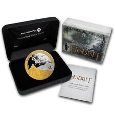 2013 THE HOBBIT, LOTR 1 OZ SILVER PROOF $1 DOLLAR UNCIRCULATED COIN