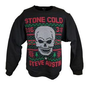 A Stone Cold Christmas.Details About Stone Cold Steve Austin 3 16 Wwe Ugly Christmas Mens Sweater Sweatshirt