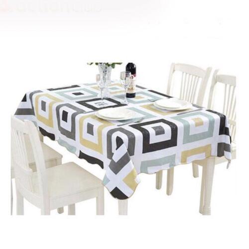 Housse De Plastique Motifs Géométriques haute qualité étanche maison salle à manger tissu