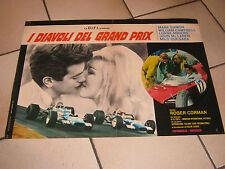 I DIAVOLI DEL GRAND PRIX,RACING RACE,AUTO,CAR,DAMON ROGER CORMAN FOTOBUSTA