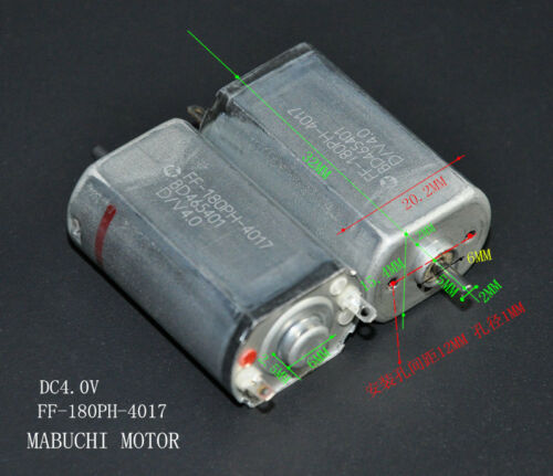 Mabuchi FF-180PH-4017 Mini Motor DC 2.4V 4V 2mm Shaft for Electric Shaver Razor