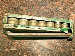 Vintage-Socket-Set-USA-old-socket-set-indestro-Mfg-Co-chicago-7-sockets-2-wrench