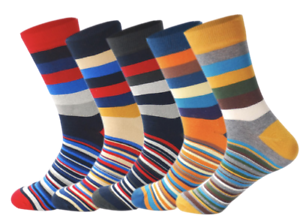 Mens-Crew-Socks-Stripe-Zone-5-Pack-Sock-Set-Novelty-Happy-Colourful-Funny-Cool