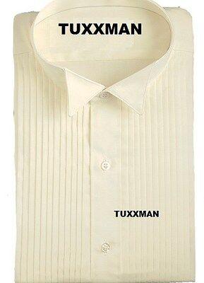 Used Ivory Wing Collar Tuxedo Shirt Formal Tux Shirts all sizes 65/35 Waiter