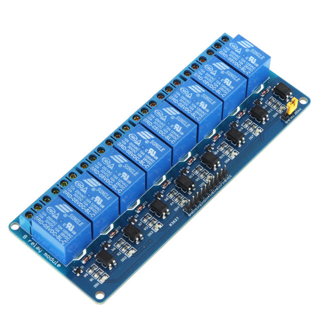 5V Active Low 8 Channel Relay Module Board for Arduino PIC AVR  MCU PLC Control