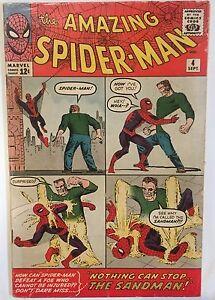 The-Amazing-Spider-Man-COMIC-ISSUE-4-Sep-1963-1ST-SERIES-Marvel-ft-Sandman