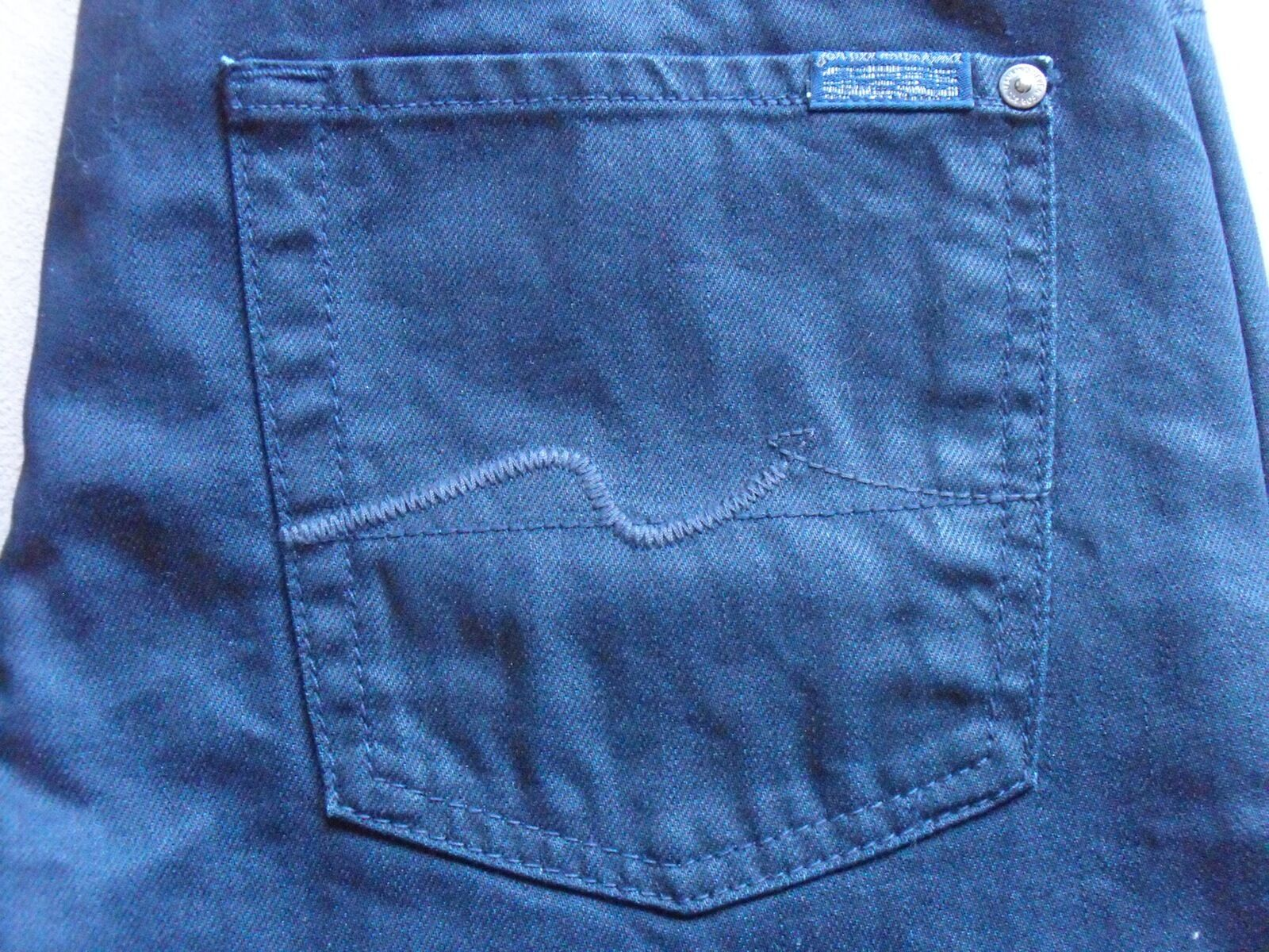 SEVEN 7 FOR ALL MANKIND MENS STANDARD COATED DARK blueE SLIM JEANS SIZE 30 NEW