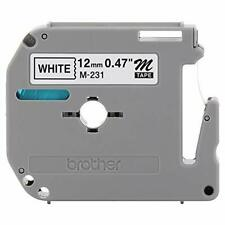 Brother Genuine P Touch M 231 Tape 12 047 Standard P Touch Tape Black On