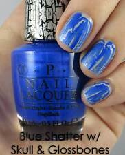 NEW! OPI Nail Polish Vernis BLUE SHATTER ~ Dazzling Cobalt Blue Crackle-effect