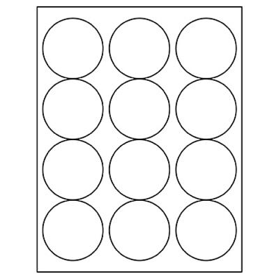 Avery 5294 White Round Labels 2 1//2 diameter LASER B2G1 5 Sheets