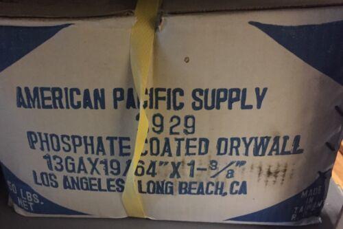 "3lbs Box Drywall Nails 13Ga X19//64/""X11-3//8 Phosphate Coated Drywall Nails Bulk"