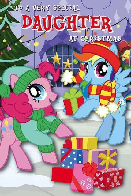 My Little Pony Christmas.My Little Pony Christmas Card Daughter Sister Daughter 220mm X 155mm