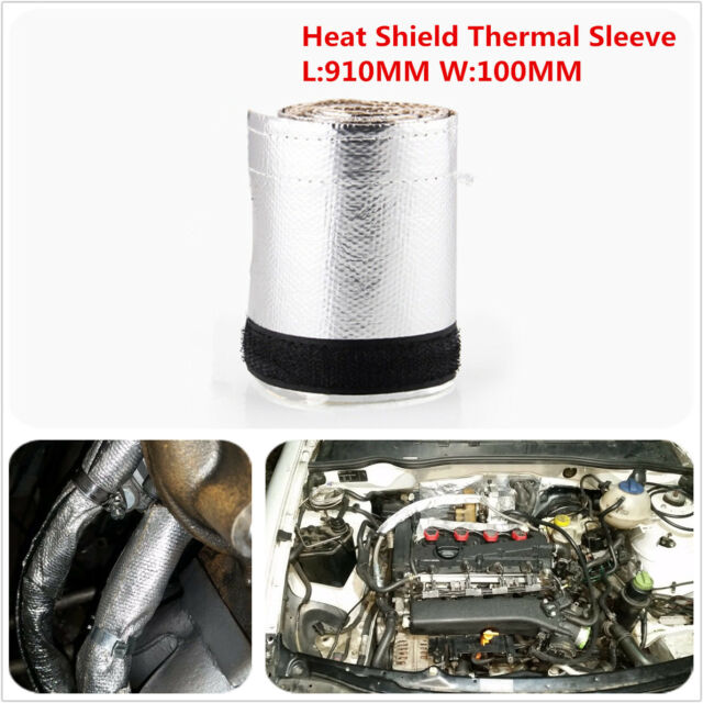Car Metallic Heat Shield Thermal Sleeve Insulated Wire Hose Cover L:910MM W:85MM