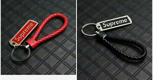 Supreme-Leather-Keychain-Bundle-Black-And-Red