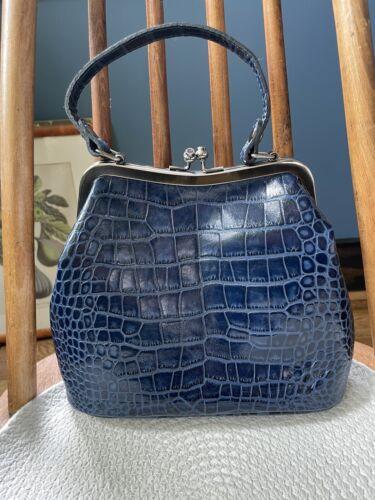 Vintage Patricia Nash Laureana Leather Frame Satch