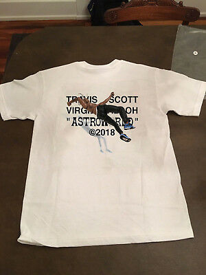 Hot Rare Real T Shirt Mens T Shirt Virgil Abloh For Travis Scott Astroworld Ebay