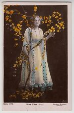 POSTCARD - Edna May, stage beauty, Edwardian actress with flowers, tinted