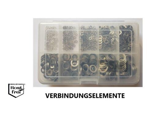 Rondelles Plates Set DIN 433 700 pièces acier inoxydable a2 2,2-10,5 livraison gratuite