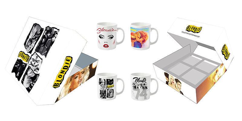 BLONDIE Debbie Harry Collector's Edition 4 Mug Set In Gift Box