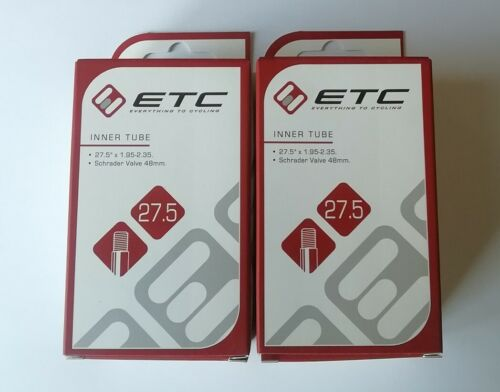 "5/"" x 1.95-2.35/"" Inner Tubes Schrader Valve 2 x ETC MTB 27"