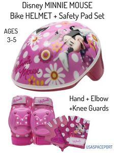 Bike Helmet Pads /& Gloves 7 Piece Set Bell Disney Sofia the First Princess Girls Skate