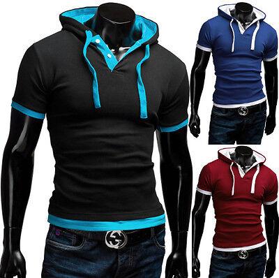 MERISH Poloshirt Slim Fit Hoodie Hemd Figurbetont Pullover Herren T-Shirt 09
