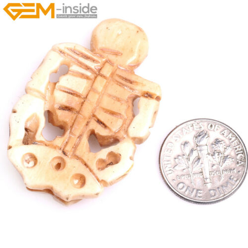 Carved Skull Bone Ghost Beads  For Jewelry Making Halloween Cosplay Decoration