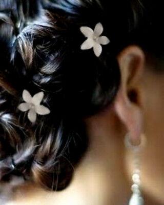 24 Pc White Flower Bobby Hair Pins Wedding Updo Quinceanera Bridesmaid Bridal Ebay