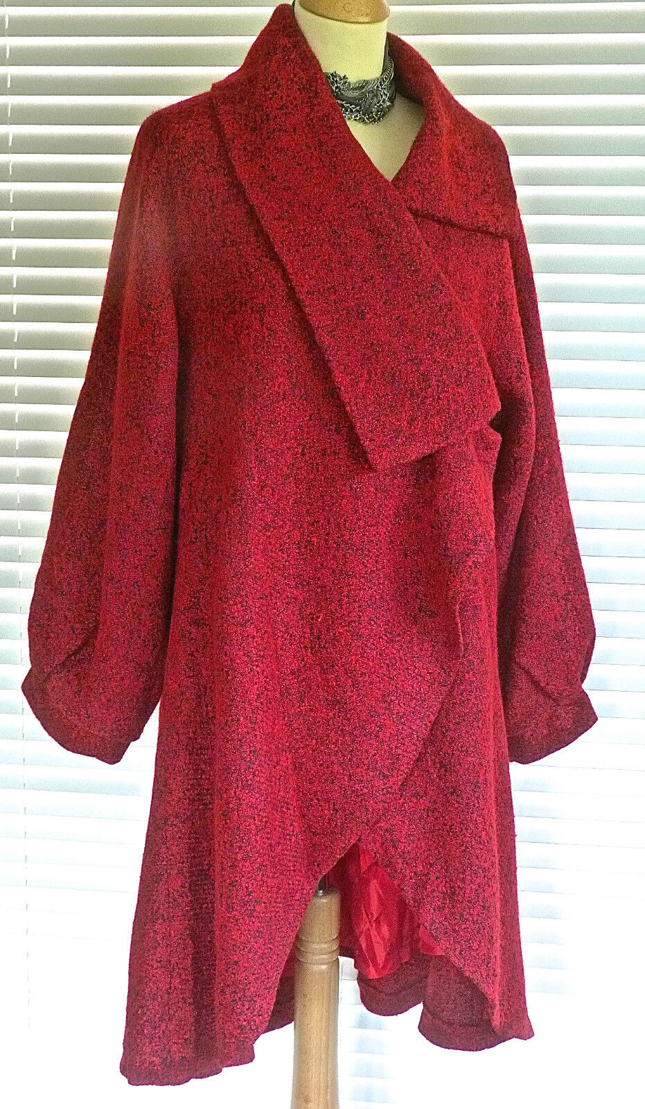 Fab Ladies lagenlook Plus size  Wrap style Fit & Flare wool mix coat RRP