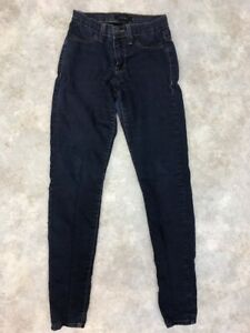 Flying-Monkey-Women-039-s-Blue-Dark-Wash-Stretch-Skinny-Denim-Jeans-Size-25