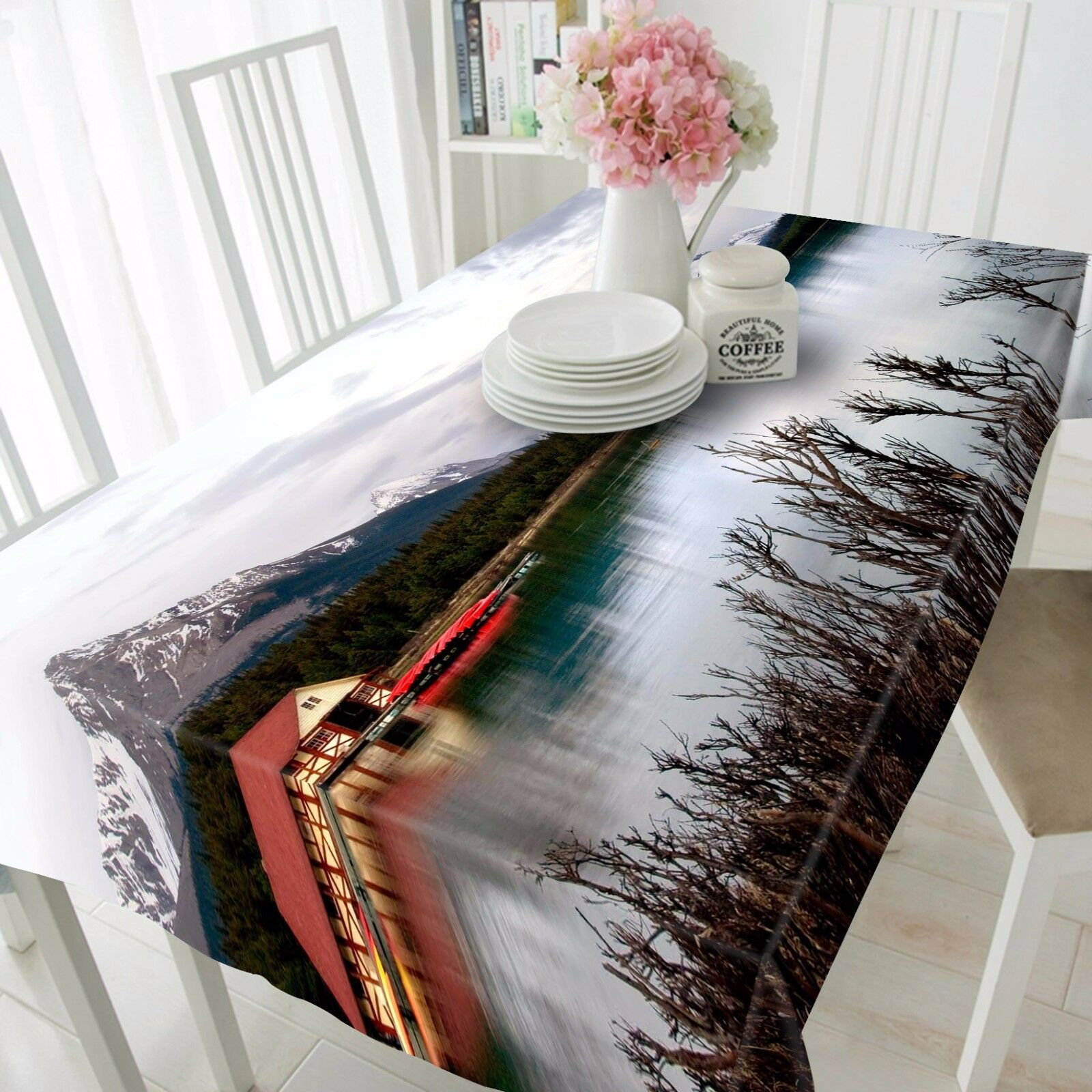 3D River Tree Tablecloth Table Cover Cloth Birthday Party AJ WALLPAPER UK Lemon
