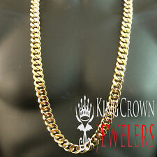 """MEN HEAVY SOLID 14K YELLOW GOLD FINISH CUBAN CURB LINK NECKLACE CHAIN 18MM x 38"""""""