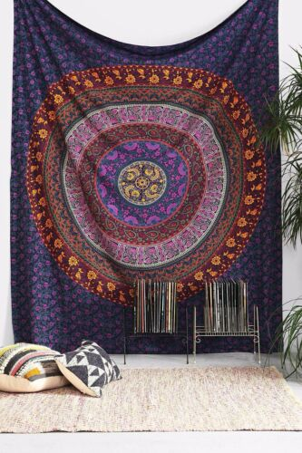 INDIAN WALL HANGING TAPESTRY MANDALA HIPPIE TAPESTRIES BOHEMIAN TWIN THROW DECOR