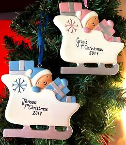 Christmas Tree Decorations Names.Details About Personalised First Christmas Tree Decorations Baby S 1st Xmas Baubles Any Name