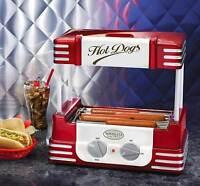 Commercial Hot Dog Roller Grill Cooker Machine Sausage Maker Bun Warmer Cook New