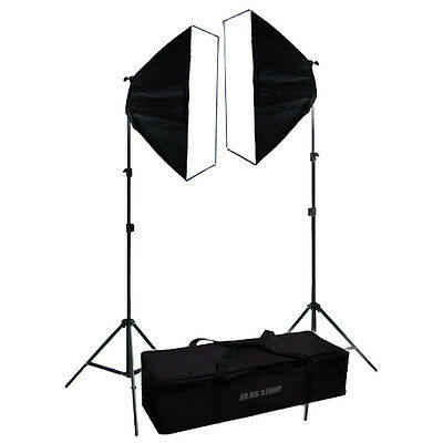 2 x Photo Studio Video Continuous Lighting Kit Photography Softbox Light Stand