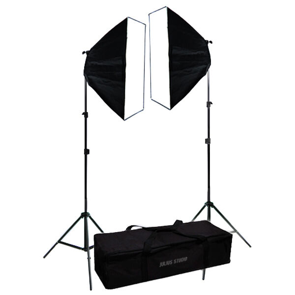 2 x Video Continuous Lighting Kit Photography Softbox Light Stand
