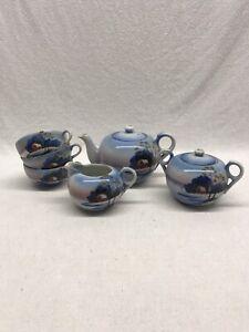Vintage-Japanese-Porcelain-Takito-3-Piece-Tea-Set-Plus-3-Cups