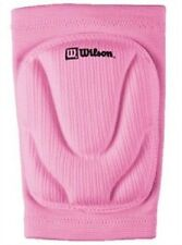 New Wilson Adult Set 2 PINK Volleyball KNEE PADS Cushioned Foam w Elastic Sleeve